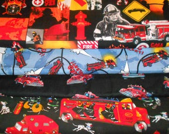 FIREMEN    Fabrics, Sold INDIVIDUALLY not as a group, by the Half Yard