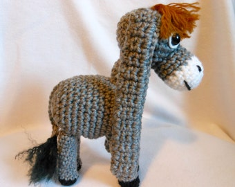 Nestor, the Long Earred Donkey, Crochet Christmas Donkey, Christmas Movie, Animation, Stuffed Donkey, Stuffed Animal, Christmas TV