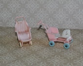 Vintage Dollhouse Baby Strollers Acme Brand