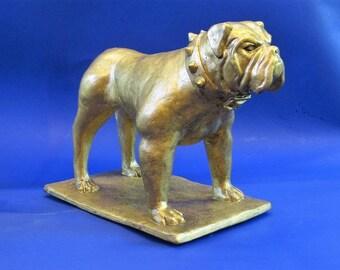 Godfather --- Bulldog Mascot Figurine with Spiked Collar