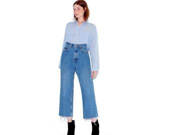 vintage LEVI JEANS levis 550 high waisted jeans womens xl / adorable 550s jeans mom jeans boyfriend jeans jeans straight leg 90s jeans