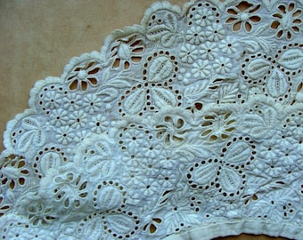 Antique Edwardian Heirloom Tambour Brussels Intoxicating Antique Handmade Whitework Collar Downton Gatsby 79