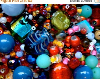 ONSALE Vintage Glass and New Bead Mixture Caribbean Collection