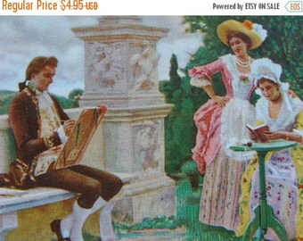 ONSALE 5 Antique French Edwardian playing cards Downton Series