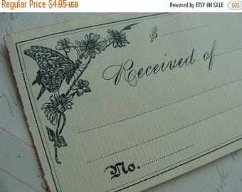 ON SALE 135 Year Old Divine Unused Check Butterflies