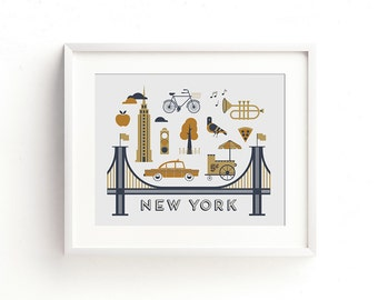 New York Letterpress Art Print