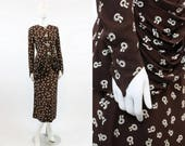 40s Suit Novelty Print Small Medium / 1940s Vintage Jacket and Skirt /  Ribbons and Lifesavers Two Piece Suit
