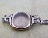 Vintage  Watch parts - watch Case with band -  Steampunk - Scrapbooking  t7