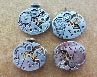Steampunk watch parts - Vintage Antique Watch movements Steampunk - Scrapbooking L42