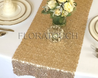 Gold Glitz Sequin Table Runner Wedding Table Runner
