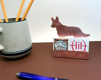 American Cattle Dog Business Card Holder Copper Desk Accessory Australian Cattle Dogs gifts for Dog lovers  items dog gifts