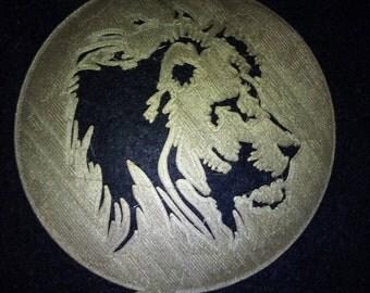 Pochoir pour café ou gâteau lion