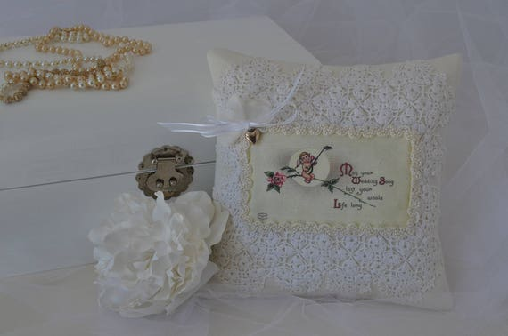 "Wedding Ring Bearer Pillow ""Wedding Song"""
