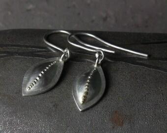 Pod Earrings in sterling silver