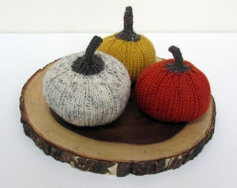 Fall Decor, Knit Pumpkins, Halloween, Thanksgiving Decor Decor
