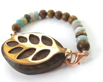Bella Beat  Accessory - bellabeat fragrant sandalwood and amazonite with rose gold accents