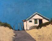 """For Us - Original Acrylic Oil Encaustic Landscape Painting - 14""""x 11"""""""