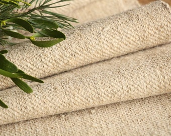 R 509 : antique handloomed 4.80 yards french 리넨 twill looking texture upholstering curtain projects wedding  BROWNISH