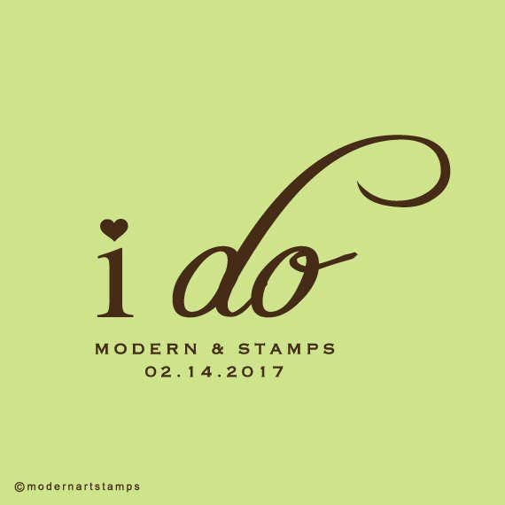 Wedding Stamp   Custom Wedding Stamp   Custom Rubber Stamp   Custom Stamp   Personalized Stamp   I do Stamp   C20