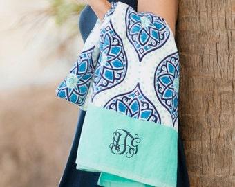 Personalized monnogram Beach towel 4 Styles