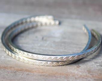 Sterling Boho Cuff, Cuff Bracelet, Chevron Cuff, Sterling Silver Cuff, Boho Bracelet, Hipster Cuff, Womens Cuff, Anniversary Bracelet