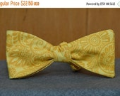 Gold Paisley Floral  Bow Tie