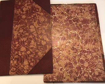 Set of Marbled Bookcovers