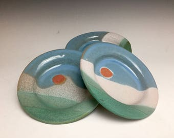 Small Plate: Back Country Collection; Saucer; Ceremic Stoneware