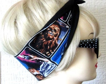Star Wars Hair Tie Head Scarf by Dolly Cool Retro 70s Print Comic Book Strip Marvel DC Boom Pow Zap Superhero