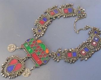 MASSIVE Tribal Necklace . Statement Jewelry