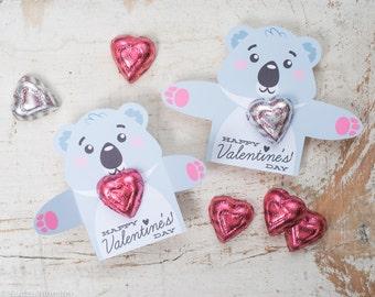Koala valentine  Etsy