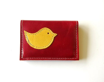 LEATHER 4 Pocket Wallet - Solo Bird