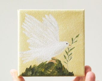 hope on the wing / original painting on canvas