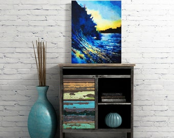 Ocean Wave Photography - Surf Art - Canvas Wall Art - Surf Photography - Ocean Art - Beach Themed Decor - Beach Wall Art - Canvas Art  16x20