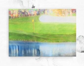Unique Golf Gift - The Masters 16th Hole - Augusta National Golf Club - Canvas Art Print - Golf Art - Golf Decor - Golf Gift for Men - 8x12