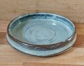 Vintage Bowl | Hand Thrown | decorative pottery | Studio Pottery | Blue | hygge | Wide Flat bowl | 1970s | Stoneware | Sage Bowl | key bowl