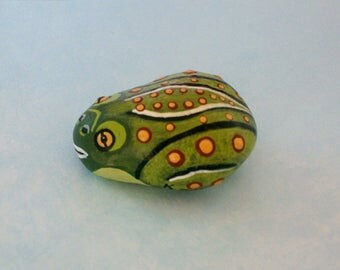 Frog-miniature for fairy gardens accessories-DIY terrarium kits-dollhouse scale miniatures-painted pet rocks-collectibles-figurines-spring