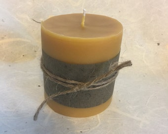 Pillar candle one pound beeswax