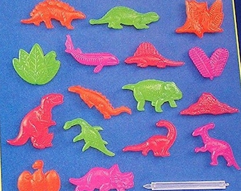 RARE Lite Bright 3D Character Accessory Pegs DINOSAURS Set Of 16