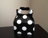 Mini Gable Boxes - Black and White Dot - Set of 12