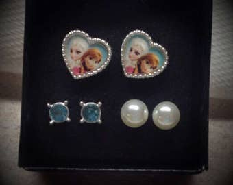 Vintage 3 sets Disney Theme Earrings - Avon