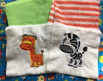 NEW! Jungle Buddies Minky Blanket