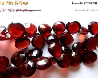SALE, Mozambique Garnet, Garnet, Faceted, Heart, Red, Briolette, Bead, Jewelry Making