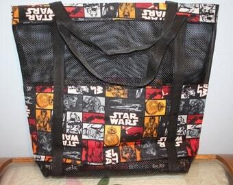 Star Wars Black Vinyl Mesh Tote