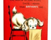 Vintage Hallmark Pop-Up Birthday Card Greeting Card UNUSED Puppy Dog Sausages Hot Dogs