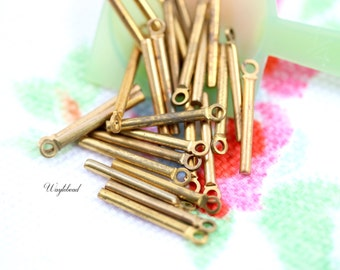 Tiny Vintage Brass Sticks Charms - 20