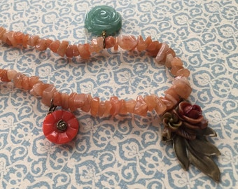 Carnelian Bouquet Necklace SALE