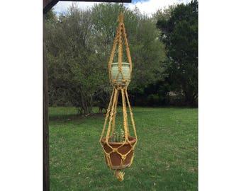 Macrame Plant Holder - Hanging Planter - Hanging Plant Holder - Plant Holder - Vintage Macrame - Macrame - Macrame Plant Hanger - Bohemian