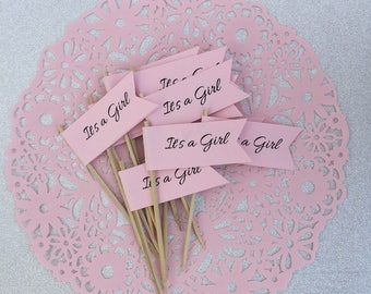 It's a Girl Cupcake Toppers - Baby Shower Baby Girl Shower (12CT)