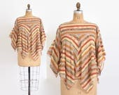 Vintage 70s Cotton TOP / 1970s Draped Gauzy Cotton Bohemian Blouse